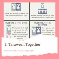 Praying Taraweeh with family at home