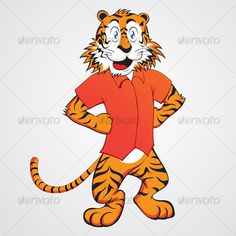 Realistic Graphic DOWNLOAD (.ai, .psd) :: http://realistic-graphics.ovh/pinterest-itmid-1000076189i.html ... Funny Tiger ...  cartoon, cat, character, clean, funny, orange, red, shirt, smile, tiger, year 2010  ... Realistic Photo Graphic Print Obejct Business Web Elements Illustration Design Templates ... DOWNLOAD :: http://realistic-graphics.ovh/pinterest-itmid-1000076189i.html