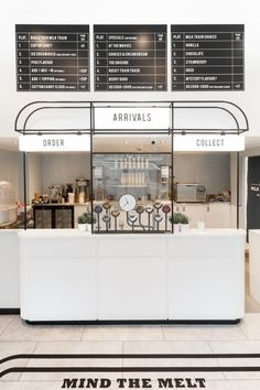 Milk Train Arrives in London's Covent Garden in Art Deco Playfulness Granola ice t granola bar commercial Cafe Interior Design, Cafe Design, Home Interior, Store Design, Design Shop, Bakery Shop Interior, Bakery Shop Design, Interior Sketch, Classic Interior