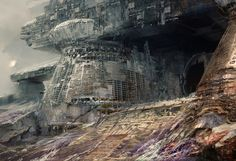 """Scraps Of The Untainted Sky"": The Epic Dystopian Artworks By Daniel Dociu – Design You Trust Post Apocalyptic Art, Alien Worlds, Guild Wars, Matte Painting, Science Fiction Art, Future City, Weird World, Sci Fi Art, Ancient Art"