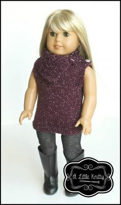 6656666a9 Matilda Tunic   Cowl Knitting Pattern. Ag Doll Clothes ...