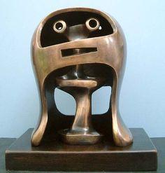 Henry Moore - Works in Public - Helmet Head No.2 1950 (LH 281)