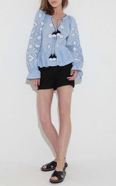 Star Long Sleeve Blouse by MARCH11 for Preorder on Moda Operandi