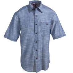 Wolverine Clothing Men's W1203570 408 Blue Short-Sleeve Chambray Shirt