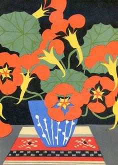 V. Lember-Bogatkina Flowers Postcard  1966. by RussianSoulVintage