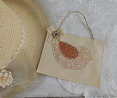 Dekorácie - Vintage vtáčik...obrázok I - 5974660_