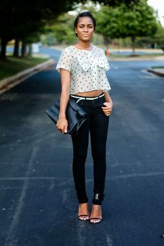 Mild obsession for bows.  Love that top! |  The Daileigh: Sealed With A Bow