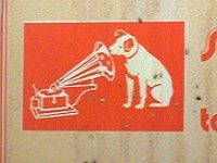 His Masters Voice, Logo (detail)