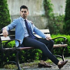 Blue Blazer Outfit Men, Blazer Outfits Men, Fashion Suits, Men's Fashion, Light Blue Blazers, Indian Men Fashion, Indian Man, Smart Casual, Wedding Suits