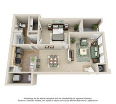 Two bedroom apartment layout google search houses - 3 bedroom apartments in littleton co ...