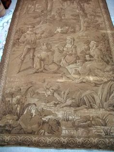 Rare Antique French Tapestry Wall Hanging 17th Century 9