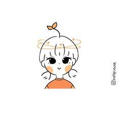 Kawaii Drawings, Cartoon Drawings, Easy Drawings, Cartoon Art Styles, Cute Art Styles, Cute Wallpaper Backgrounds, Cute Wallpapers, Pop Stickers, Cute Couple Art