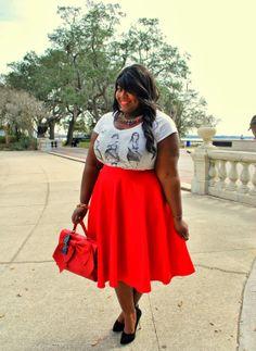 Musings of a Curvy Lady: Bauble Head #plussizefashion #womensfashion #curvy #red @ASOS.com.com