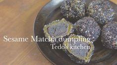 黒胡麻抹茶団子の作り方 Black sesame matcha dumplings recipe
