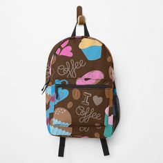 I Love Coffee, Fashion Backpack, Clutches, Traveling By Yourself, Sweet Treats, Backpacks, Printed, My Love, Awesome