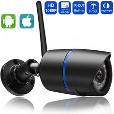 Supports Both Wi-Fi and Wired Mode ! Support Micro SD card,up to Support for mobile video surveillance (iOS,android) Support Motion Detection & Email Alert Wireless Security Cameras, Wireless Home Security Systems, Security Cameras For Home, Security Alarm, Mobile Security, Bullet Camera, Ip Camera, Windows Xp, Shopping