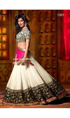 Bollywood lehenga - Blanc Prix 110€ Stock disponible