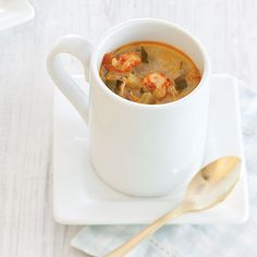 Crawfish Soup--Serves 12 A rich and creamy crawfish soup. Crawfish Recipes, Cajun Recipes, Seafood Recipes, Soup Recipes, Cooking Recipes, Recipies, Creole Cooking, Cajun Cooking, Cajun Food