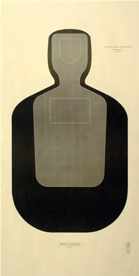 Law Enforcement Silhouette Target