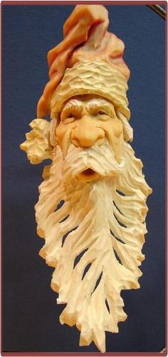santa face # carved # amazing detail