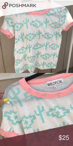WILDFOX SZ XS CACTI RINGER TEE TOP SHIRT Super cute top Wildfox Tops