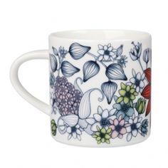 Runo Kesäsäde mug from Arabia Bowls, Mugs, Tableware, Diy, Shopping, Design, Porcelain, Serving Bowls, Do It Yourself