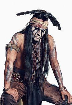 Johnny Depp:Tonto in movie The Lone Ranger