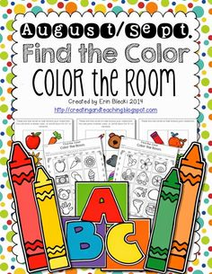 "Color the Room -- color assessment activity. Great way to introduce ""Write the Room"" activities to your kinders!"