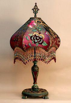 Lamp with bead fringe | Уютная бахрома: неповторимый шарм вашего дома - Ярмарка Мастеров - ручная работа, handmade
