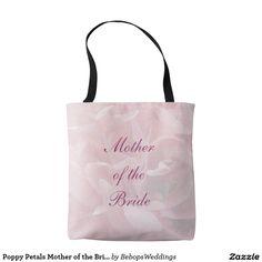 Poppy Petals Mother of the Bride Wedding Tote Bag
