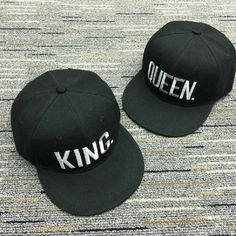 KING & QUEEN CAPS