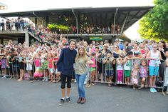 Bindi Irwin and Toby Wallace at Return to  Nim's Island premiere, photo by Australia Zoo