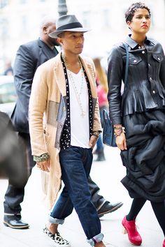 J'ai choisis Pharrell Williams car il a vraiment un style que j'affectionnes particulièrement.