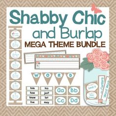 This burlap and shabby chic decor bundle is a growing bundle to help you decorate your classroom and make it look absolutely fabulous! …