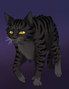 Darkstripe, born in Thunderclan, followed Tigerstar in everything that he did. Poisoned Sorreltail as a kit with death berries, punished by exile, joined Shadowclan with Tigerstar. Killed by Graystripe. tom.