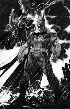 Batman - Jim Lee artwork One of the better Batman pieces I've seen.
