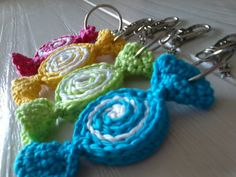 Items similar to nice keychain or bagchain with candy crochet a must have item on Etsy