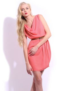 Mast & Harbour Pink Jessica Tailored Club Dress