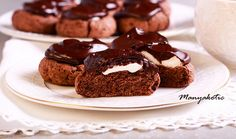 Chocolate surprise cookies with marshmallow filling