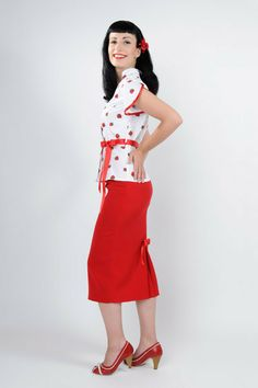 "Skirt ""Pia""red  from Frozen Hibiscus by DaWanda.com"