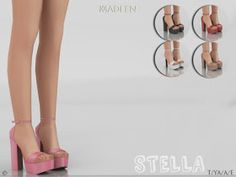 Sims 4 cc s the best madlen stella shoes by shoegame sims 4 cc s the best madlen stella shoes by saint laurent zoe pumps 1 item 18 swatches; the sims 4 custom content and tutorials Die Sims, Sims 3, Sims Four, Sims 4 Mm Cc, Sims 4 Cas, Stella Shoes, Los Sims 4 Mods, Sims 4 Black Hair, The Sims 4 Cabelos