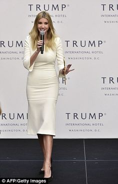 Ivanka (above in October at the opening of the Trump hotel in DC) has worked for her father since 2005