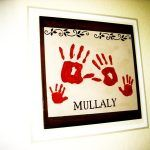 Keepsakes Made with the Whole Family's Handprints or Footprints
