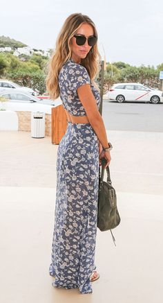 Lauren Pope flashes her toned stomach in transparent maxi-dress #dailymail