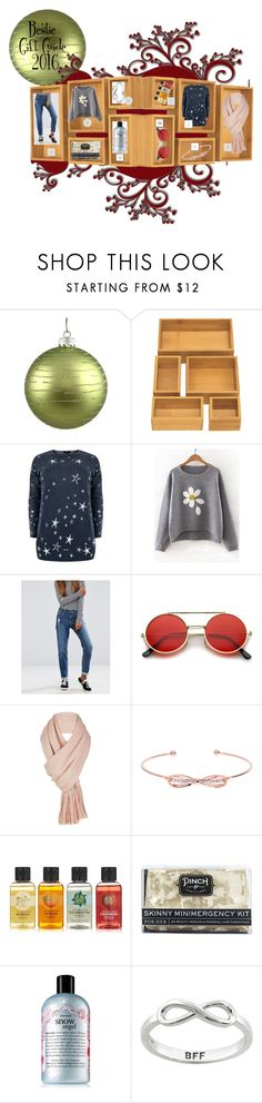 """""""Bestie Gift Guide 2016"""" by sandjpopescu ❤ liked on Polyvore featuring Seville Classics, ASOS, ZeroUV, Free People, Ted Baker, The Body Shop, Pinch Provisions, philosophy and Eternally Haute"""
