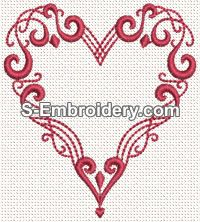"""This free embroidery design is called """"Valentine Heart""""."""