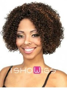 This fashion forward afro is a great choice for daily wear or a pageant. It is made from remy human hair with layers of small curls. The lace front cap allows it to depart anywhere on head.