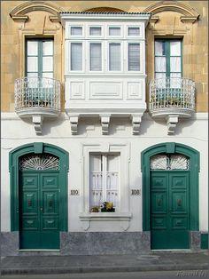 Malta, typical Maltese doors.
