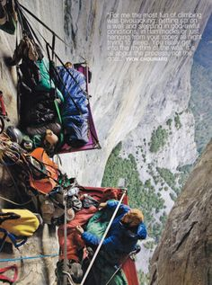 "Yvon Chouinard - Founder of Patagonia, #bivouacking climbing (""getting up on a wall and sleeping in god-awful conditions . . ."")"