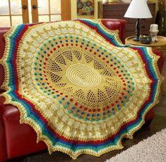 Red Heart® Treasures of the Sun King Crochet Afghan Kit Crochet Mittens, Crochet Pillow, Crochet Blankets, Crochet Books, Crochet For Kids, Crochet Baby, Irish Crochet, Crotchet, Free Crochet